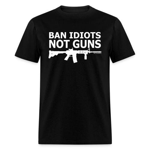 BAN-IDIOTS - Men's T-Shirt