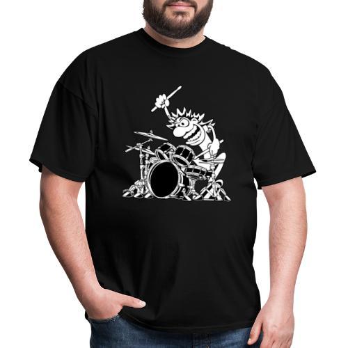 Crazy Drummer Cartoon Illustration - Men's T-Shirt