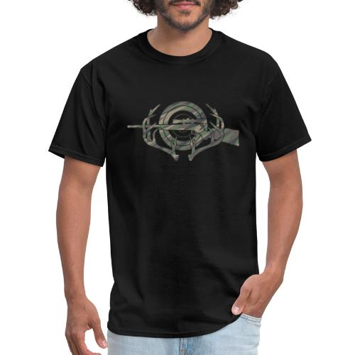 Camouflage Hunting and Shooting Sports Logo - Men's T-Shirt