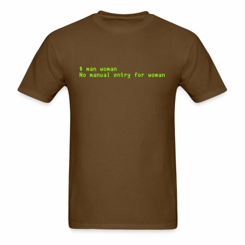man woman. No manual entry for woman - Men's T-Shirt