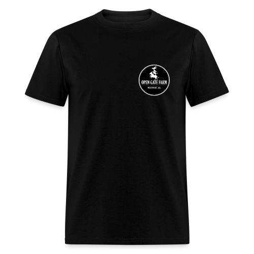 Open Gate Farm • The Black Logo - Men's T-Shirt