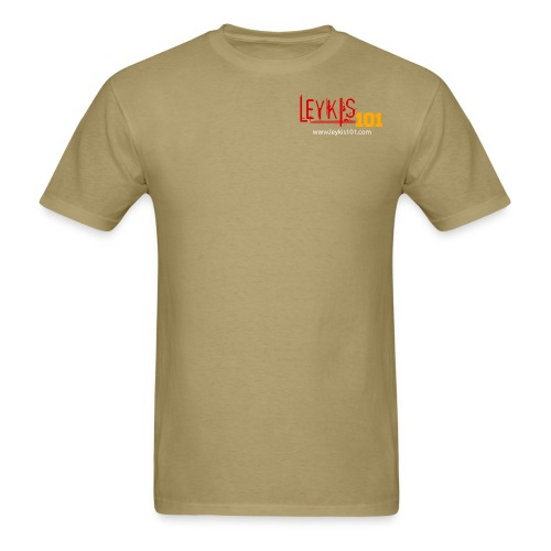 Leykis 101 Full Color with Domain - Men's T-Shirt