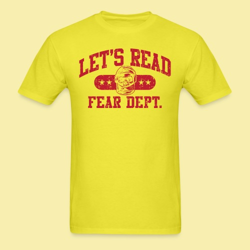 Fear Dept - Athletic Red - Inverted - Men's T-Shirt