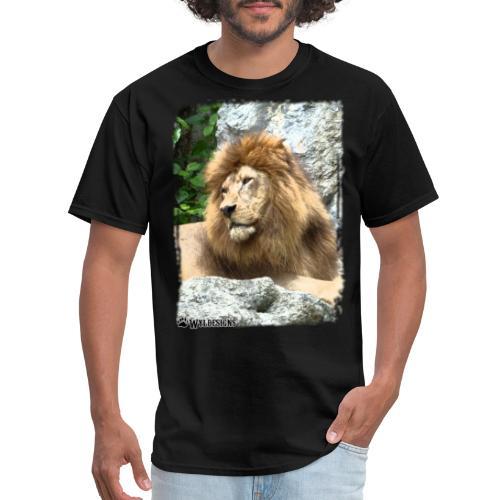 Lion On Rocks - Men's T-Shirt