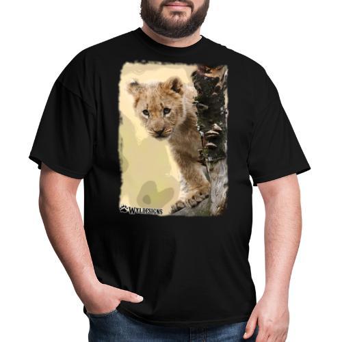 Lion Cub Peeking - Men's T-Shirt