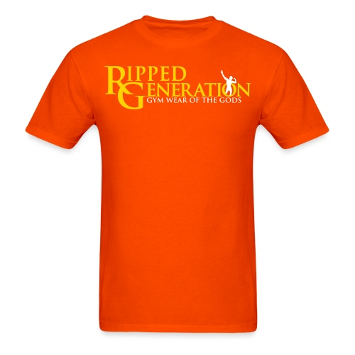Ripped Generation Logo Gold - Men's T-Shirt