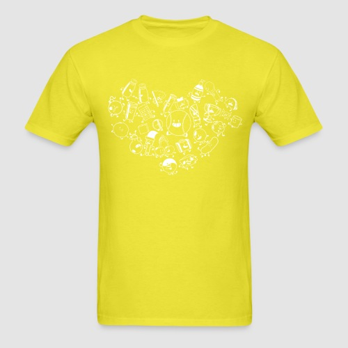 Inanimate Heart White - Men's T-Shirt