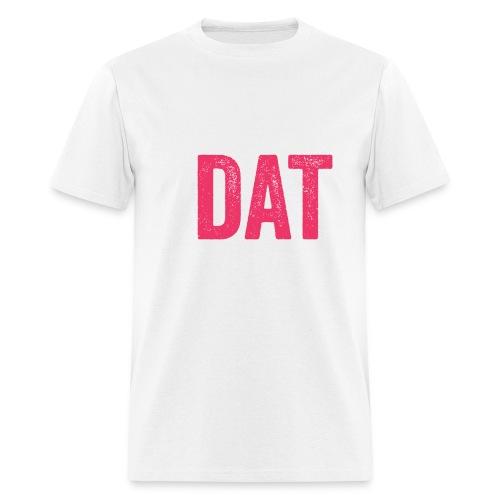 pink white box d logo png - Men's T-Shirt