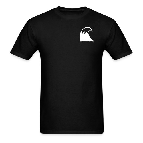 Clear back white wave png - Men's T-Shirt