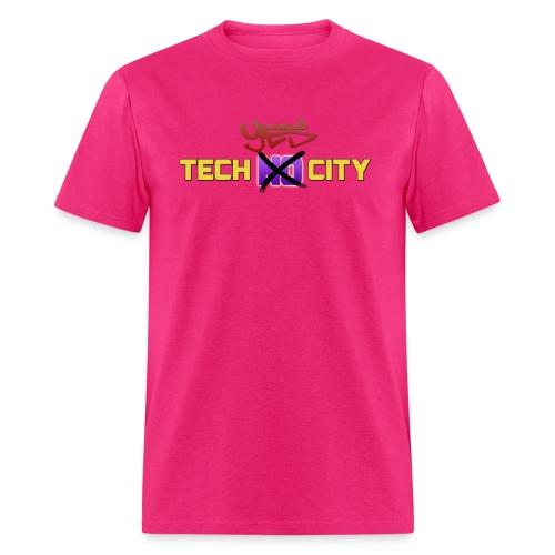 techyescitydessigTWO png - Men's T-Shirt