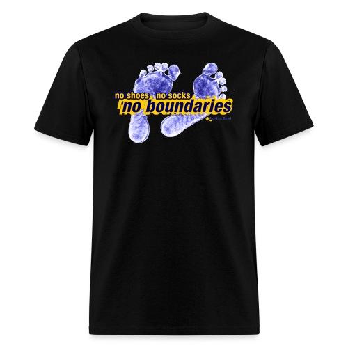 No Shoes, No Socks, No Boundaries - Men's T-Shirt