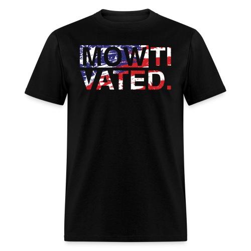 mowtivated flag - Men's T-Shirt