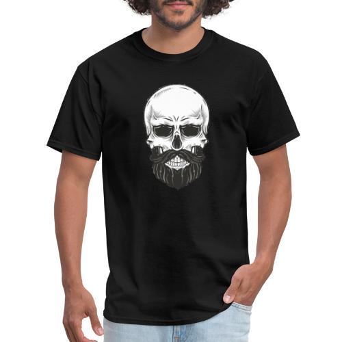 Skull with beard - Men's T-Shirt