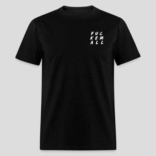 FUCKEMALL White Logo - Men's T-Shirt