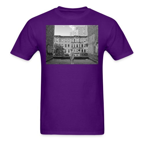 rooftop crop bw - Men's T-Shirt