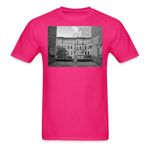 rooftop crop bw - Men's T-Shirt