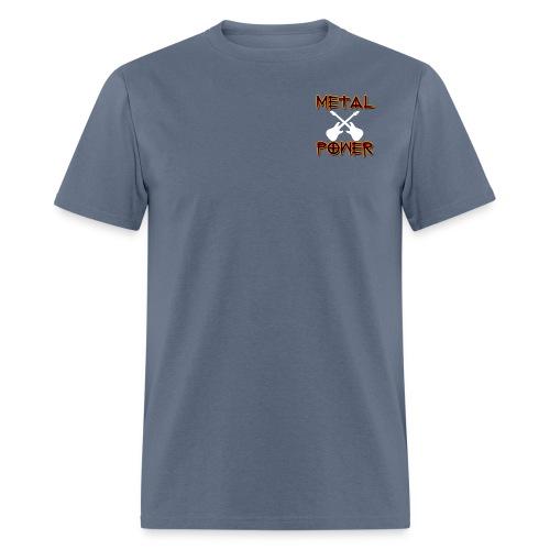 MetalPower by GuitarLoversCustomTeesLogo png - Men's T-Shirt