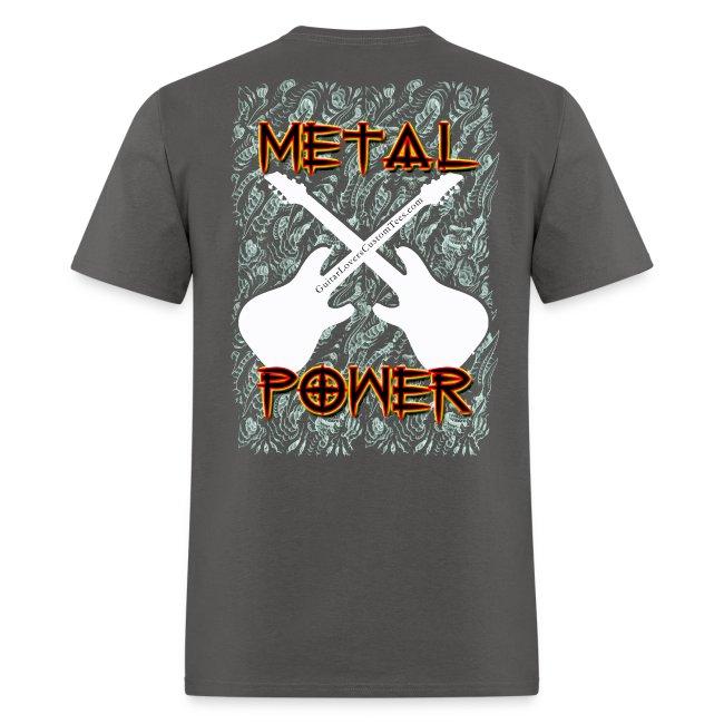 MetalPower by GuitarLoversCustomTeesLogo png