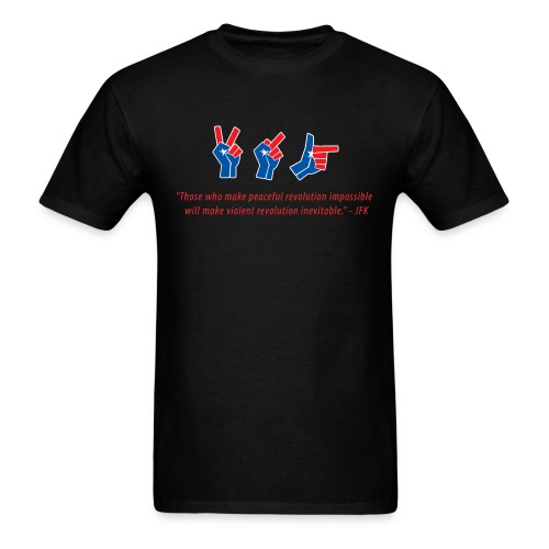 evolutionofrevolutionJFK - Men's T-Shirt