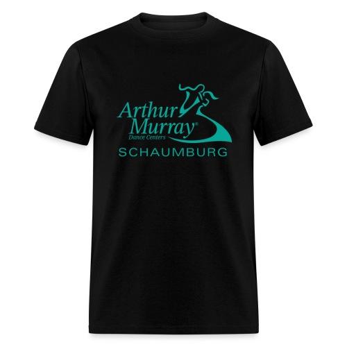 Arthur Murray Schaumburg Turquoise Logo - Men's T-Shirt