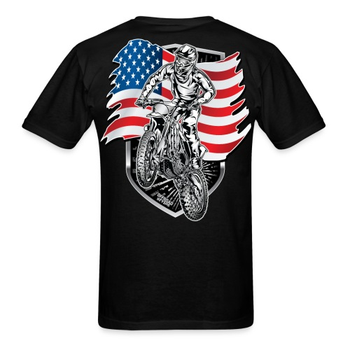 Motocross USA Flag - Men's T-Shirt