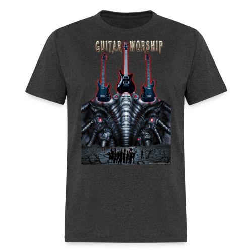 Guitar Worship by Michael Groebel png - Men's T-Shirt