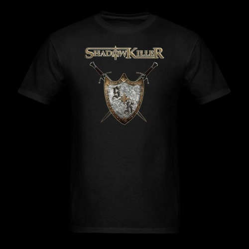 sk golden shield with band logo - Men's T-Shirt