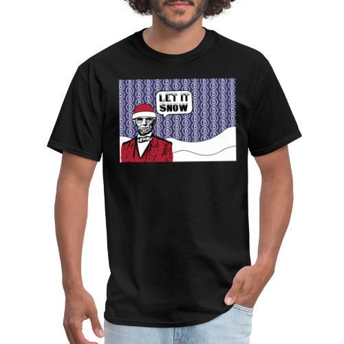 Let it snow bitcoin - Men's T-Shirt