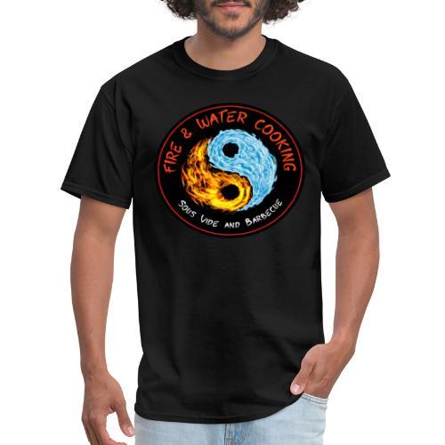 Fire & Water Cooking Full Sized Logo - Men's T-Shirt