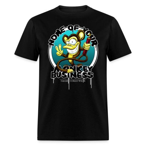 no monkey busin - Men's T-Shirt