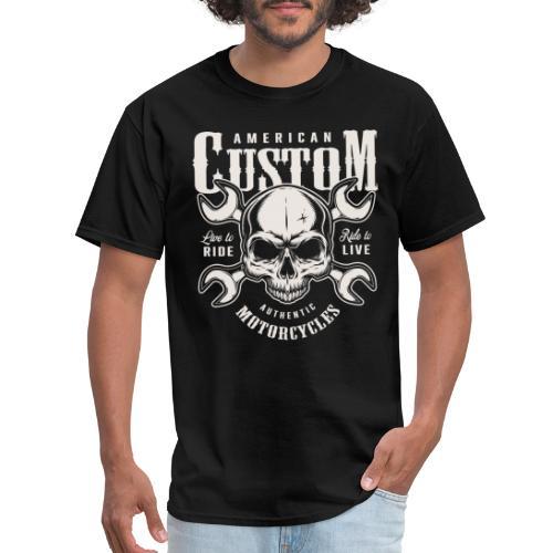 custom motorcycles biker - Men's T-Shirt