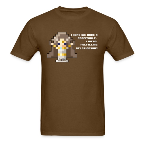 Time Goddess - Profitable Relationship (White txt) - Men's T-Shirt