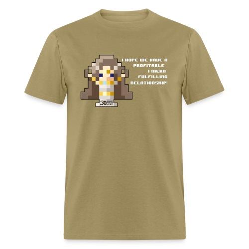 Time Goddess - Profitable Relationship (White txt) - Men's T-Shirt