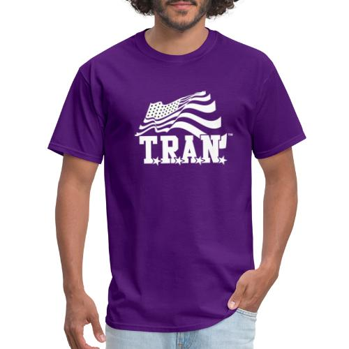 New Tran Logo Transparent inverted png - Men's T-Shirt
