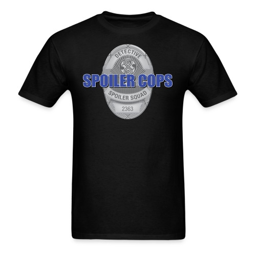 spoilercops silver - Men's T-Shirt
