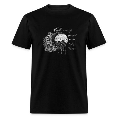 Night Thoreau Quote Tshirt - Men's T-Shirt