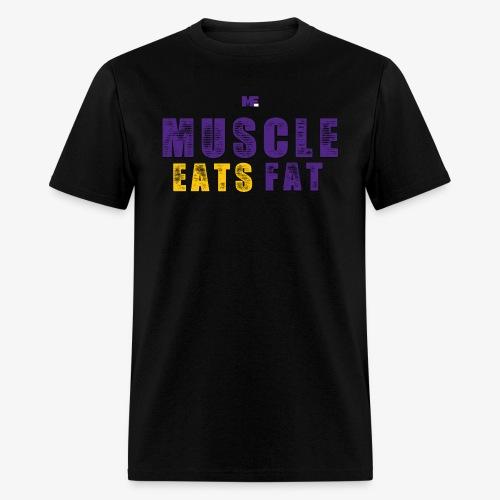 Muscle Eats Fat (Vikings Edition) - Men's T-Shirt