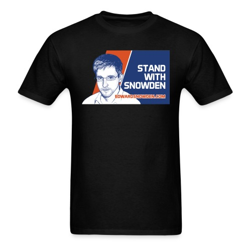 6697837 116322837 standwithsnowden01 ori - Men's T-Shirt