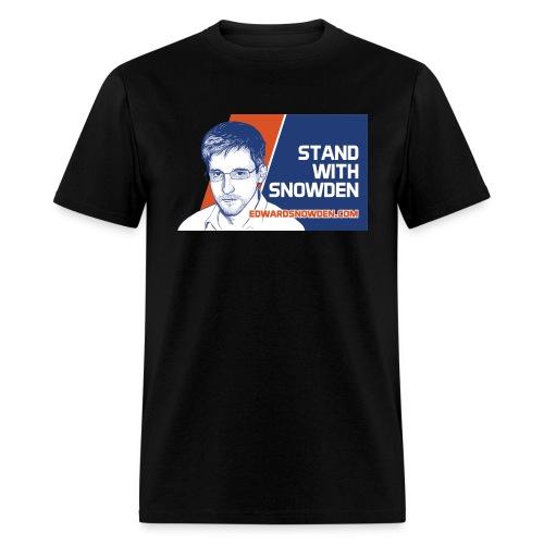 6697837 116322837 standwithsnowden01 ori - Men's T-Shirt