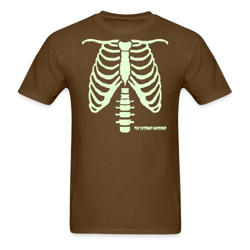 glow in the dark skeleton ribcage - Men's T-Shirt