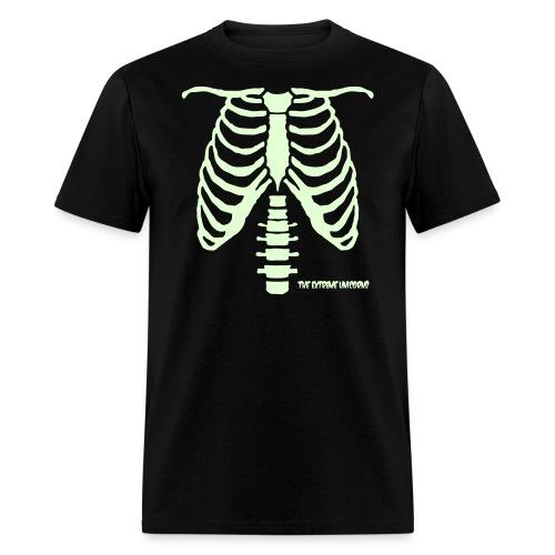 glow in the dark skeleton ribcage - Men's T-Shirt