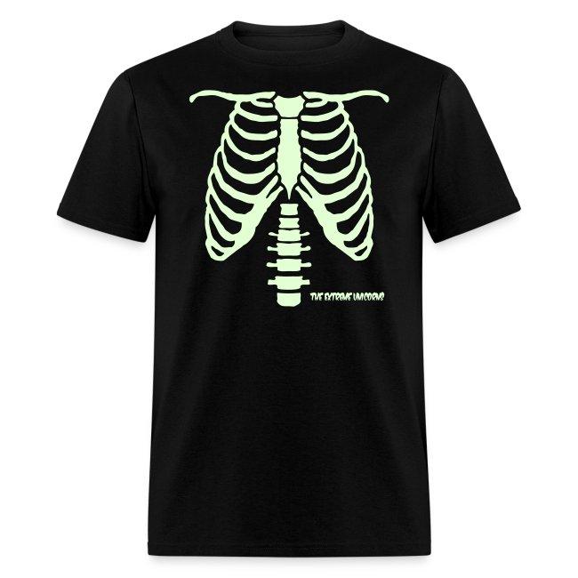 glow in the dark skeleton ribcage