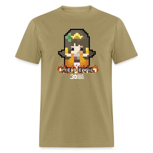 Princess ME v EVIL (White logo) - Men's T-Shirt