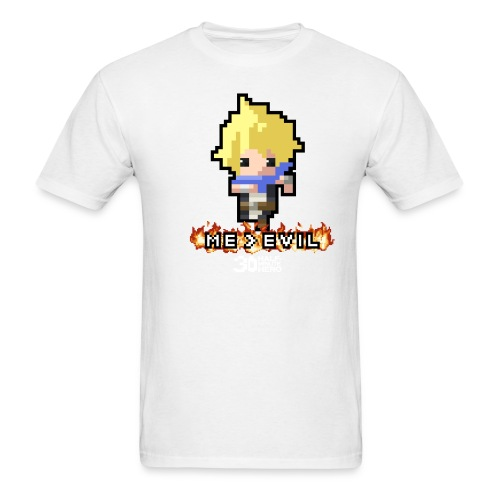 Hero ME v EVIL (White logo) - Men's T-Shirt
