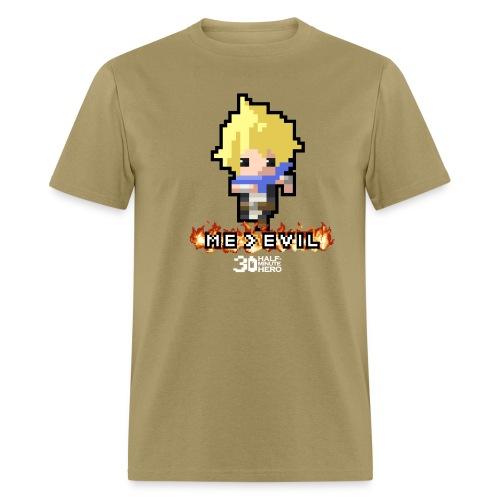 Hero ME v EVIL (White logo) - Men's T-Shirt