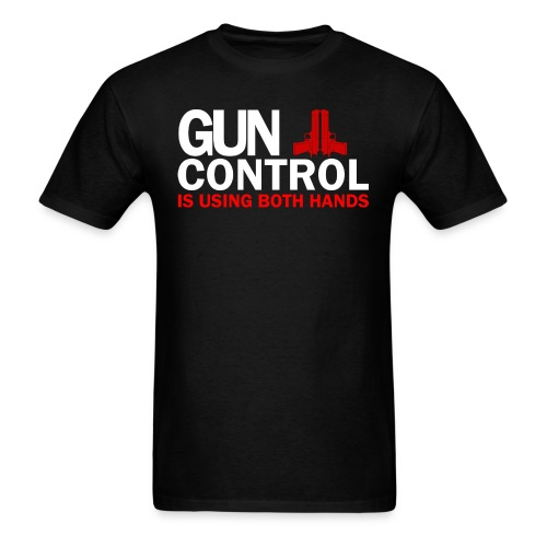 Gun control, White FONT - Men's T-Shirt