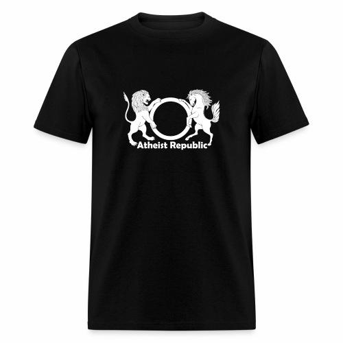 Atheist Republic Logo - White - Men's T-Shirt