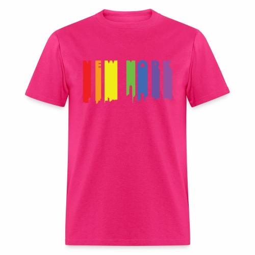 New York design Rainbow - Men's T-Shirt