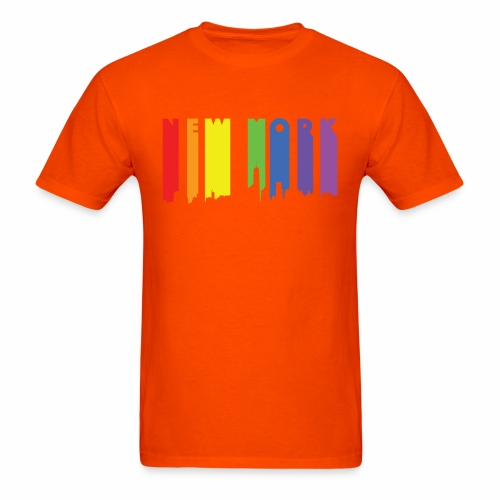 New York design Rainbow - Men's T-Shirt