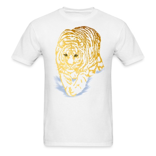 Golden Snow Tiger - Men's T-Shirt